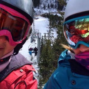 skiing ruth and liz mum and dad